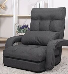 Waytrim indoor chaise lounge sofa folding couch bed with armrest