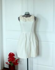 White Fit and Flare Cocktail Dress Sz 10