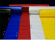 2 Feet x 75 Feet Roll = 25 Yards - RED Blank Vinyl Banner, 13oz Hemmed and Gromm