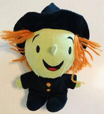 """Hallmark Wizard Of Oz Wicked Witch Plush Doll 7"""" Stuffed Animal Orange Hair"""