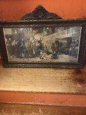 Antique 1897 Antique Nouveau Gesso Picture Frame H. Siemiradzki Print