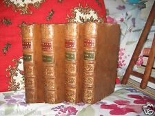 """""""Roland Furieux"""" Arioste 4 vol Belle rel Plein Cuir 1780 Trad par Comte Tressan"""