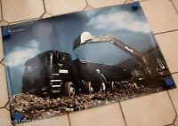 Mercedes Actros 4140 mit O&K-Bagger Poster Lkw 1999  59 x 84 cm (int. Nr. 008)
