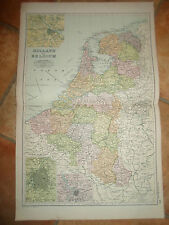 Old Map - HOLLAND+BELGIUM From Bacon's Popular Atlas Of The World - 1907 (No 18)