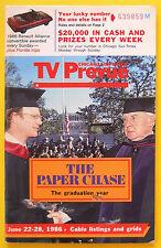John Houseman James Stephens THE PAPER CHASE Chicago TV Prevue guide June 8 1986