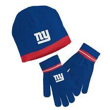 ($26) REEBOK New York Giants nfl Knit Hat & Gloves Set YOUTH KIDS BOYS CHILDRENS