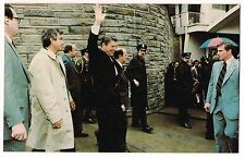 President RONALD REAGAN POSTCARD Washington Hilton Hotel PRIOR to being SHOT