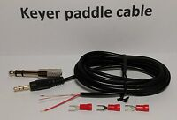 """CW Keyer paddle Cable 6 feet 1/4"""" (6.35mm) 1/8"""" (3.5mm), STRAIGHT KEY Morse code"""