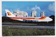 Iberia Boeing 747-256B Postcard