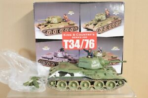 KING & COUNTRY RA25-3 WWII RUSSIAN 0ST FRONT SOVIET T34/76 3A TANK DAMAGED nv