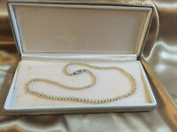 VINTAGE Small Faux Pearl Necklace 925 Silver Clasp BOXED
