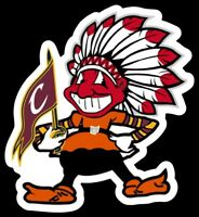 Cleveland ALL IN ONE Vinyl STICKER - Browns Indians Chief Wahoo Brownie Cavs