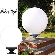 White Fence Post Pool LED Ball Light Garden Yard Pathway Lamp White Pillar