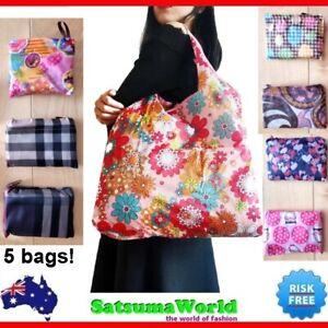 Grocery Shoulder Bag 20kg Strong Pouch Handbag Folding Reusable Tote Long Arm