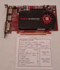 Dell AMD Firepro V4800 3D 1GB PCIe x16 DVI + 2x DP Graphics Card Video TESTED