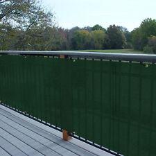 Custom 3 Ft Tall Green Balcony Railing Fabric Deck Fence Privacy Fence Screen