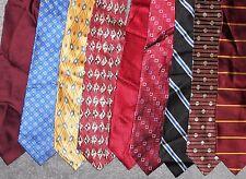 Meeting Street LOT of 9 Men Neckties 100 % Silk (LOT 2353)