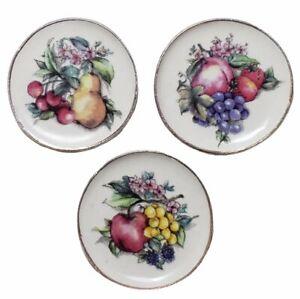 Miniature Dollhouse Set of 3 Fruit Plates Handemade USA 1:12 Scale New