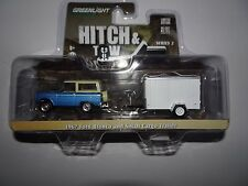 GREENLIGHT 1967 FORD BRONCO AND CARGO TRAILER HITCH AND TOW 1/64