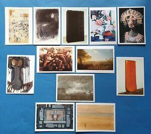 Collection Set of 12 Art Postcards, Sculptures, Assemblage, Artists PC466