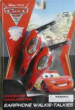 Disney Pixar Cars Earphone Walkie Talkies Wireless Hands Free Headset Toy Age 5+