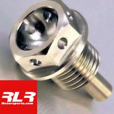 Titanium engine sump bolt, sump plug, flange head bolt drilled M12x15mm