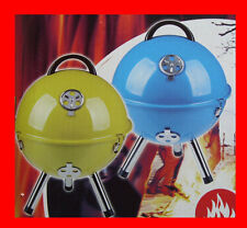 BLEU TABLE BARBECUE Boule Camping BBQ grille jardin, terrasse Ø 36