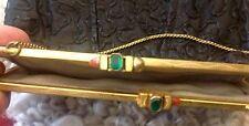 Alte Damenhandtasche, Damen, Hand, Tasche, Taft schwarz Goldbügel m. Steinen