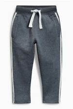 Next Boys Grey Blue Stripes Jogging Bottoms Tracksuit Trousers Age 9 Joggers