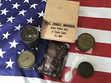 Complete 1968 Dated Vietnam War C-Ration Mci Accessories Pack Plastic Spoon Tins
