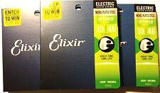 Elixir Guitar Strings 3 Pack Optiweb Electric Light 10-46 Great Tone - Long LIfe