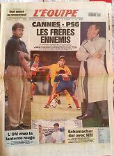 L'Equipe Journal du 14/10/1994; NOah/ Cannes-Psg/ L'OM Lanterne Rouge/ Schumache