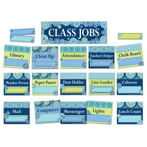 Blue Harmony Class Jobs Mini Bulletin Board Set by Eureka