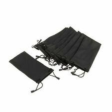 5pcs Black Microfiber Pouch Bag Soft Cleaning Case Eyeglasses Sunglasses T9Z4