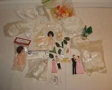 Wedding Cake Decorations Toppers Bride Groom Dove Rings Clowns Huge Lot