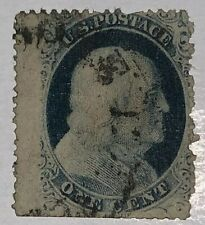 Travelstamps: 1857-1861 US Stamps Scott # 24, Franklin, 1 cent, Used, Ng