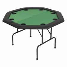 Folding Poker Octagonal Table 8 Player Professional Play Card Game Casino Fun