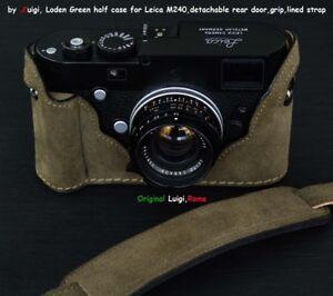LUIGI LODEN GREEN TENDERLY HALF CASE+GRIP+STRAP for LEICA,M240,M262,MMII,UPS INC
