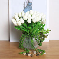 6/12Head Latex Real Touch Tulip Flower Bouquet For Wedding Home Party Decoration