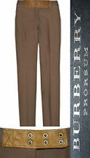$795 BURBERRY Prorsum 40 6 8 Leather Twill Skinny Pants Women Lady Gift ITALY A