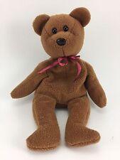 "Ty Beanie Baby Teddy Bear Curly 1993 Retired No Heart Tag 9"""