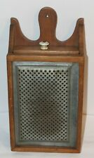 Antique Country Kitchen Wood & Tin Cheese Grater/Drawer Box Wall Hanging- Nr!