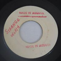 Gene & Eunice 45rpm Strange World/The Vow Soul R&B Jamaica White Label