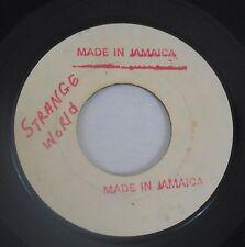 Gene & Eunice 45rpm Strange World/The Vow Soul R&B Jamaica White Label