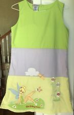 Walt Disney World Girls Large (10) Tinker Bell Shift Dress