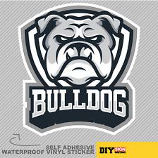 Bulldog Head Dog Animal Mascot Vinyl Sticker Decal Window Car Van Bike 1975