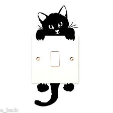 Cat Wall Stickers Light Switch Decor Decals Art Mural Baby Nursery Room PVC*A