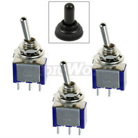 Mini Miniature Toggle Switch + Waterproof Cover ON/OFF ON/ON ON/OFF/ON