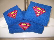 Superman Logo Personalized 3 Piece Bath Towel Set Superman Logo