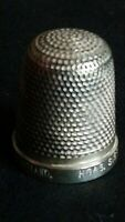 H G & S THE SPA C1913? STERLING SILVER 17 FINE DECORATED SOUVENIR THIMBLE RARE